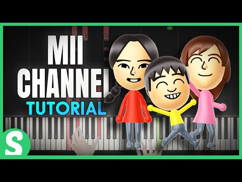 """How to play """"MII CHANNEL THEME"""" from Wii (Synthesia) [Piano Video Tutorial] [HD]"""