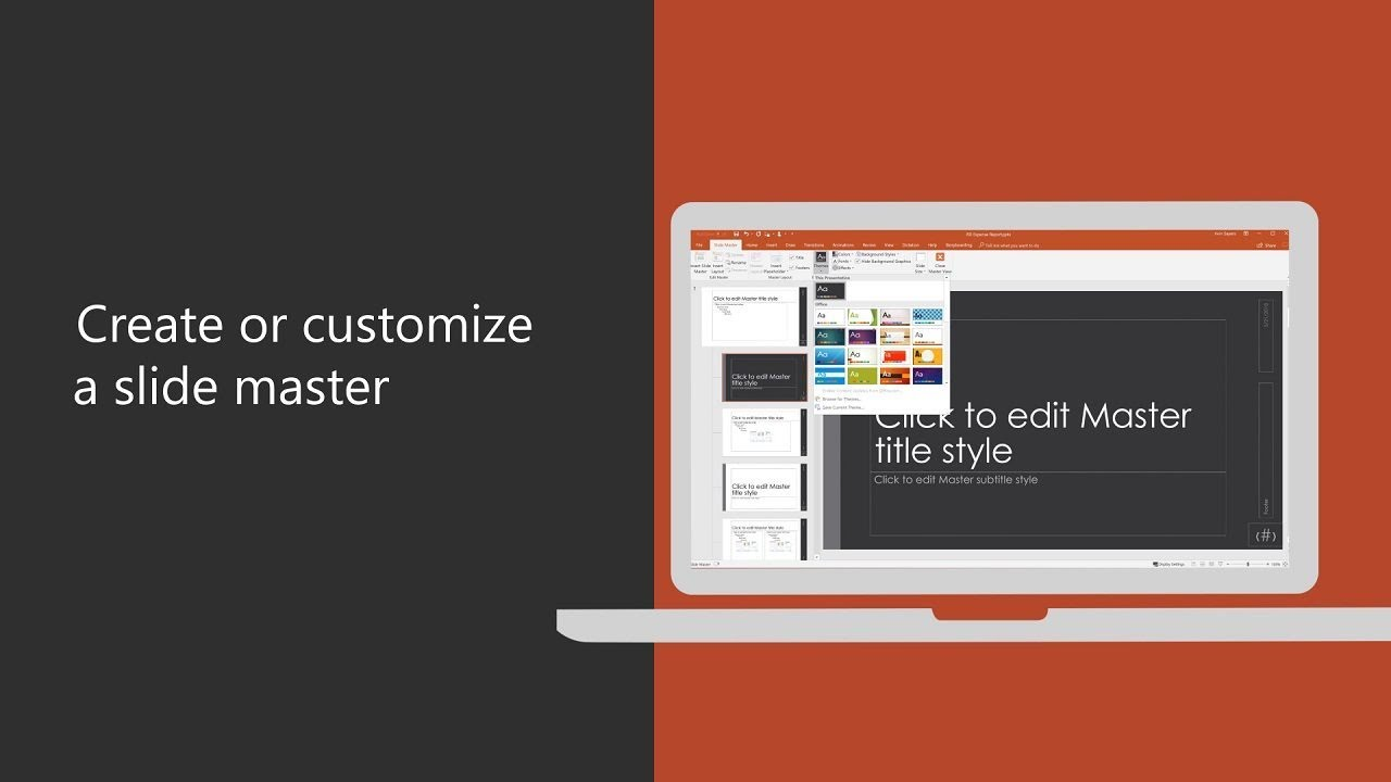 Change slide masters in PowerPoint