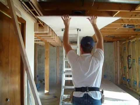 Drywall Tip Hanging the Ceiling - YouTube
