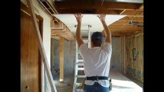 Drywall Tip   Hanging the Ceiling