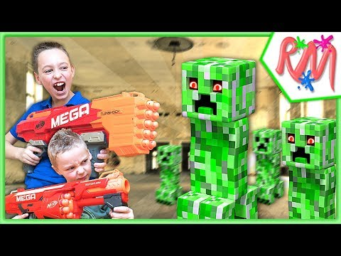 NERF WAR: Creeper Escape ! NERF vs Minecraft in Real Life