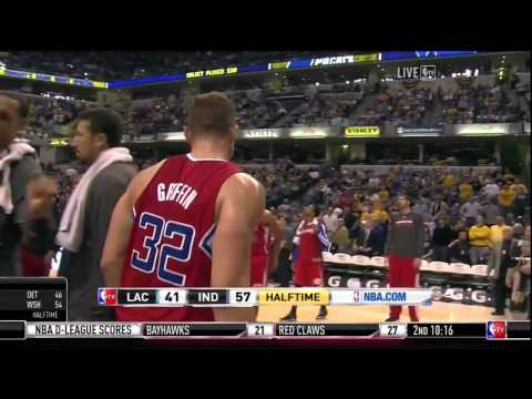 David West Ejected for Elbowing Blake Griffin, January 18, 2014