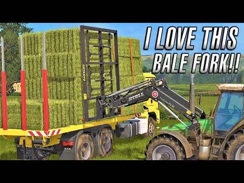 Farming Simulator 2017 | I LOVE THIS BALE FORK | Drumard Farm | Episode 7