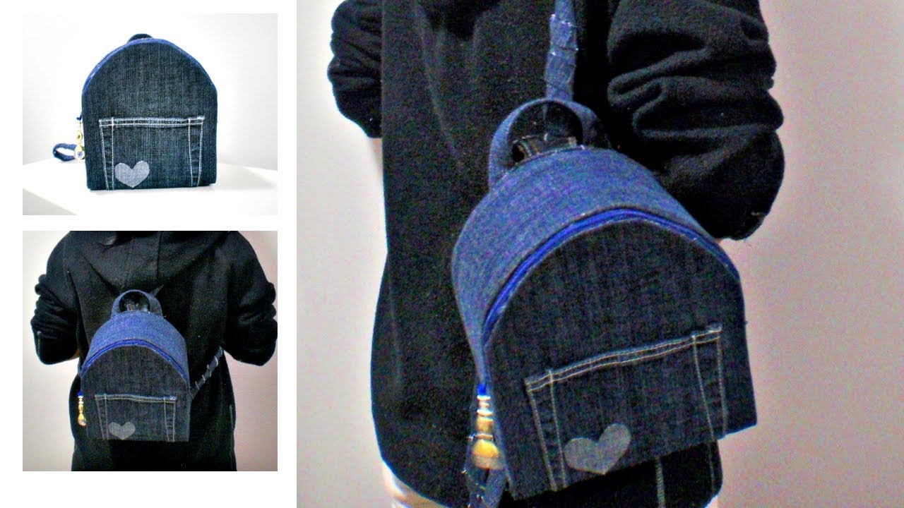 DIY No Sew Backpack from Old Jeans * How to Make Your Own ...