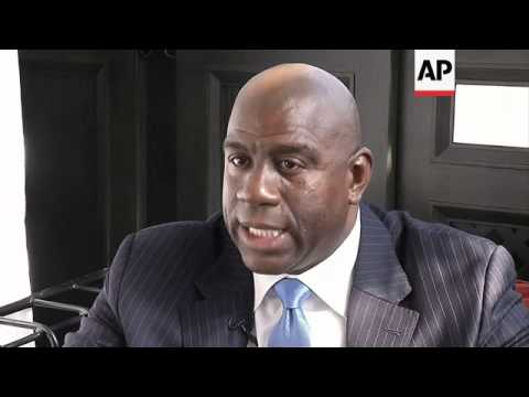 Basketball star Magic Johnson promotes in-home HIV test kit