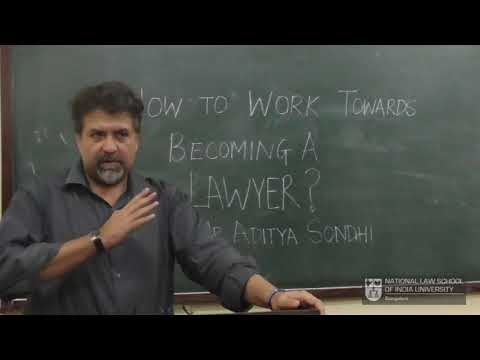 How to work towards becoming a lawyer ? - Sr. Adv. Aditya So