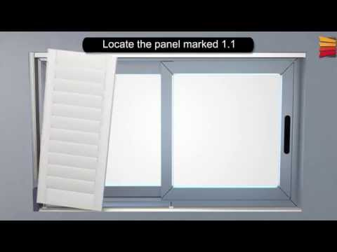 How to install Indoor PVC wood look shutters - BlindsDirect.co.za