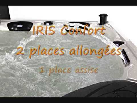 Spa Iris Confort 2 Places Allongees 1 Place Assise Youtube