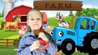 Old MacDonald had a farm song kids nursery rhymes with KybiBybi