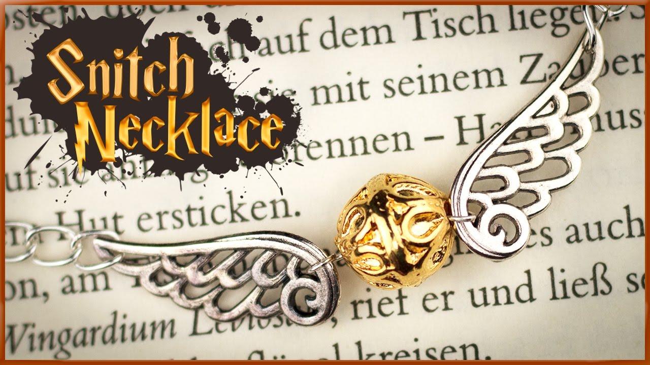 diy golden snitch necklace idea harry potter inspired. Black Bedroom Furniture Sets. Home Design Ideas