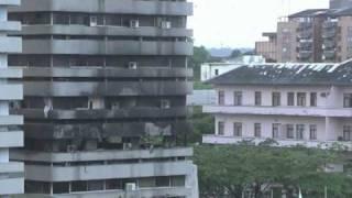 Combats de nuit dans le quartier du Plateau d'Abidjan