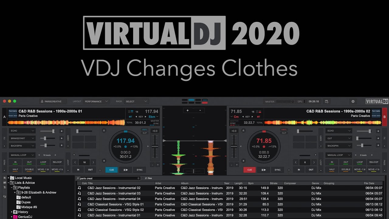 Virtual Dj 2020 Vdj Changes Clothes Youtube