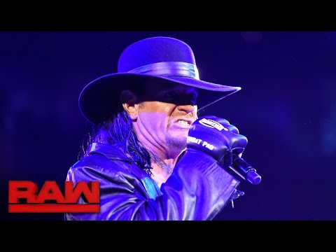 The Undertaker makes a chilling Royal Rumble Match announcement: Raw, Jan. 9, 2017