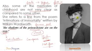 CBSE Class 10 English Novel  - The Story Of My Life Chapter 1 Explanation In Hindi -