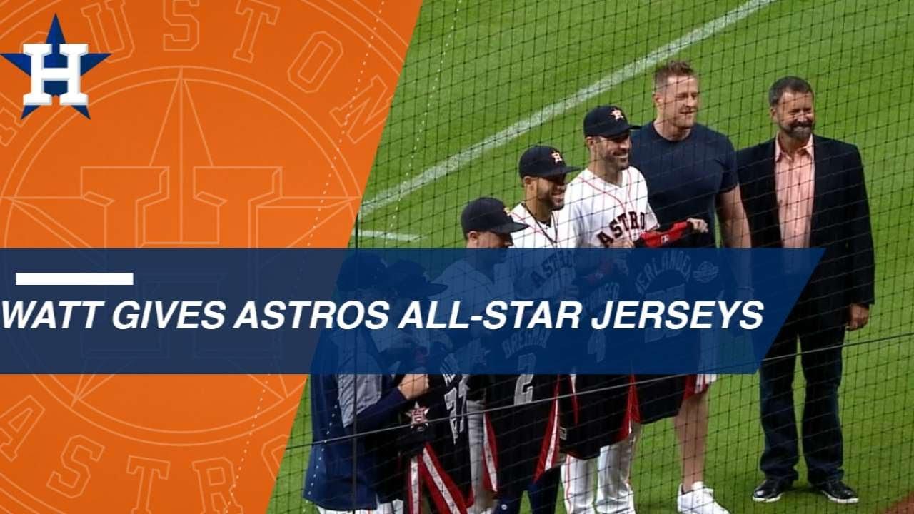 low priced 6411d e53d9 JJ Watt gives the Astros All-Stars their jerseys