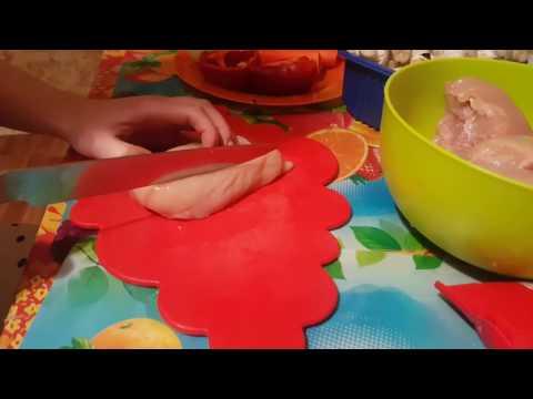 Рецепт Куринные котлеты с грибочками.