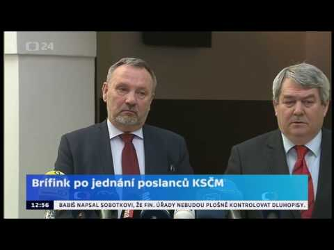 Tisková konference KSČM - 21. 2. 2017