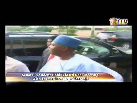 Senate President Holds Closed Door Meeting With Former President Obasanjo