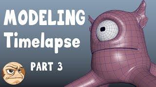 Modeling Timelapse: Part 3 - Bowz