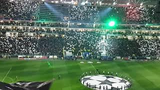 Juventus fans singing their himno anthem vs Atletico madrid