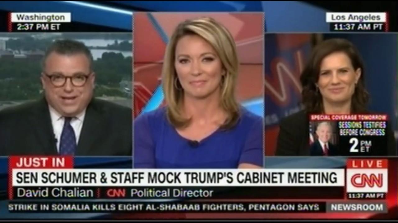 Senator Schumer & Staff Mock Trump's Cabinet Meeting President ...