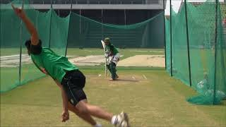 Aminul Islam Biplob Batting Practise On Nets At Sylhet Int. Stedium