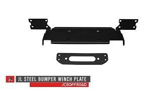 JcrOffroad - JL Steel Bumper Winchplate Install