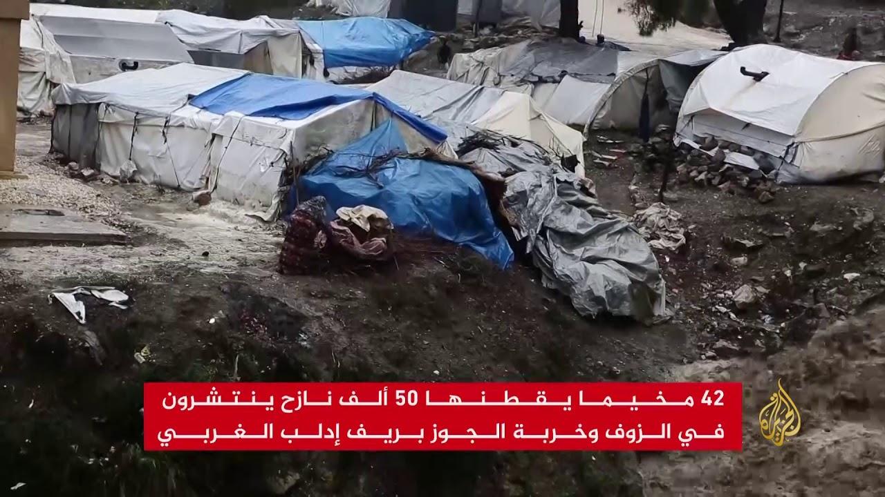 الأمطار والسيول تضاعف معاناة اللاجئين بريف إدلب الغربي
