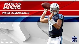 Marcus Mariota Highlights vs. Seattle | Seahawks vs. Titans | Wk 3 Player Highlights