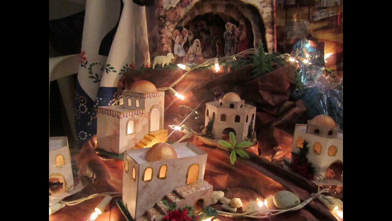 Pesebre en casa youtube - Decorar el belen ...