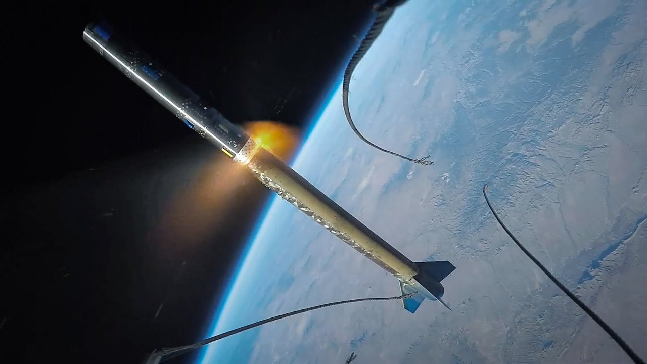 Image result for A Go Pro camera was launched into Space, this is what it filmed!