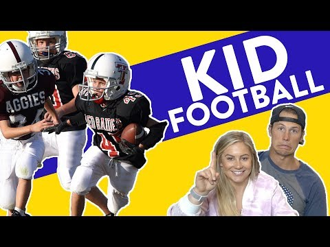 CUTE KIDS PLAYING FOOTBALL REACTION | Shawn Johnson + Andrew East
