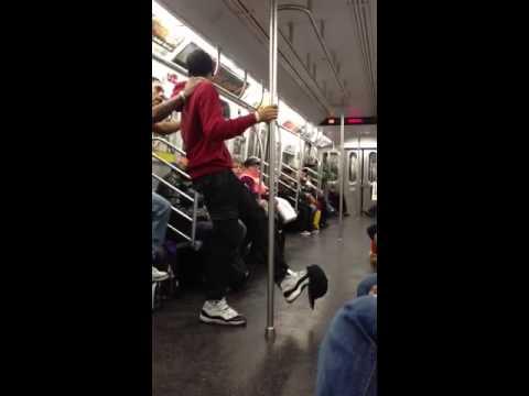 NYC subway break dance