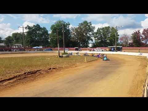 Dylan Holmes bicycles through turns 3 and 4 at Linda's Speedway