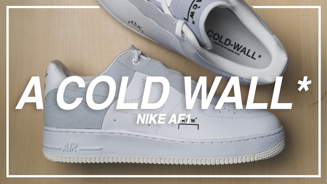 08c3c3564724 ACW x Nike Air Force 1 (White Grey) - Unboxing Review - YouTube