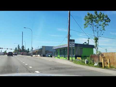 A drive down Pacific Highway through Federal Way, Washington. ( Part 1 )
