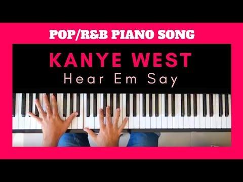 KANYE WEST Tutorial  Heard Em Say  R&B & HIPHOP PIANO CHORDS