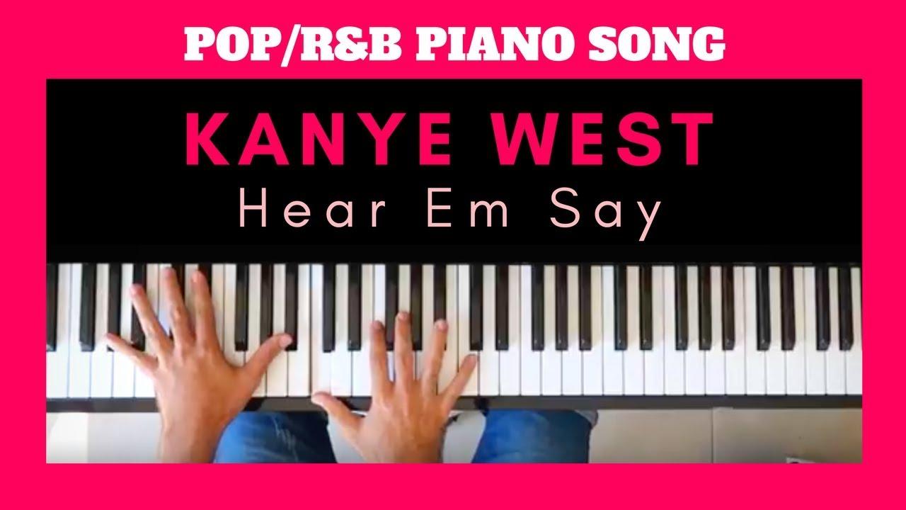 Kanye west tutorial heard em say rb hip hop piano chords kanye west tutorial heard em say rb hip hop piano chords hexwebz Images
