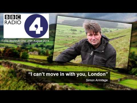 """""""I can't move in with you, London"""" - Simon Armitage"""