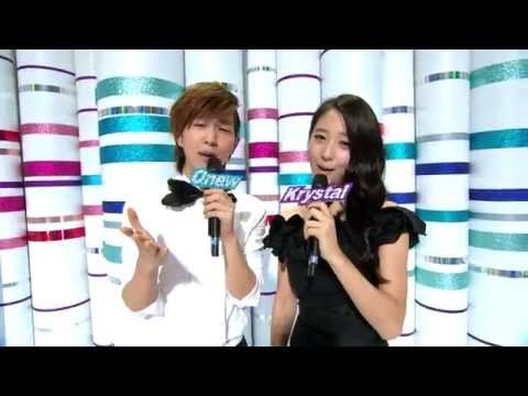 【TVPP】 Krystal (f(x)) -- Special MC with Onew, 크리스탈(에프엑스) -- 스페셜 엠씨 @ Show! Music Core Live