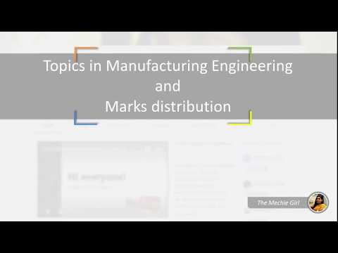 Topics in Manufacturing Engineering and Marks distribution for GATE