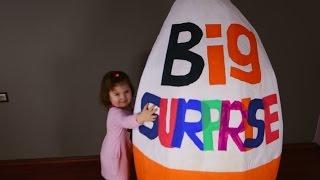 GIANT EGG SURPRISE big egg  DISNEY  Peppa  PLAY DOH  Minnie THOMAS Lego KINDER SURPRISE