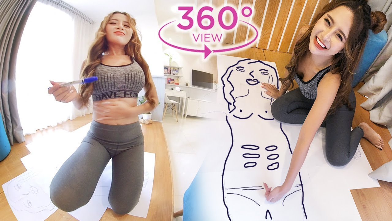 VR 360 The Caricature Attracts Millions of Views of The Bootyful Girl  I Pet and Bae