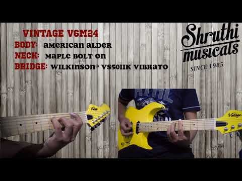 VINTAGE V6M24 DEMO| CLEAN & DRIVE |Shruthi Musicals