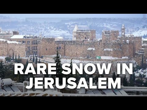 Rare Storm Covers Jerusalem with Snow; US Re-Enters Iran Nuclear Deal 02/19/21