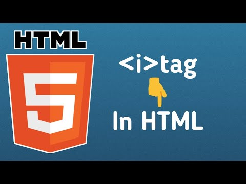 How To Use The I Tag, #italic Tag In Html Page.