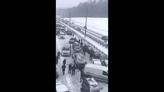 Авария на трассе М2 под Чеховом