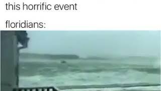 Man Surfing Wave in Hurricane Irma!!!!(Watch)