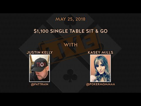 $1,100 Single Table Sit & Go with Kasey Mills and Justin Kelly