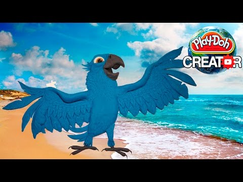 Play-doh Tyler (Blu) Gunderson Parrot Bird from RIO Movie - Playdough tutorial